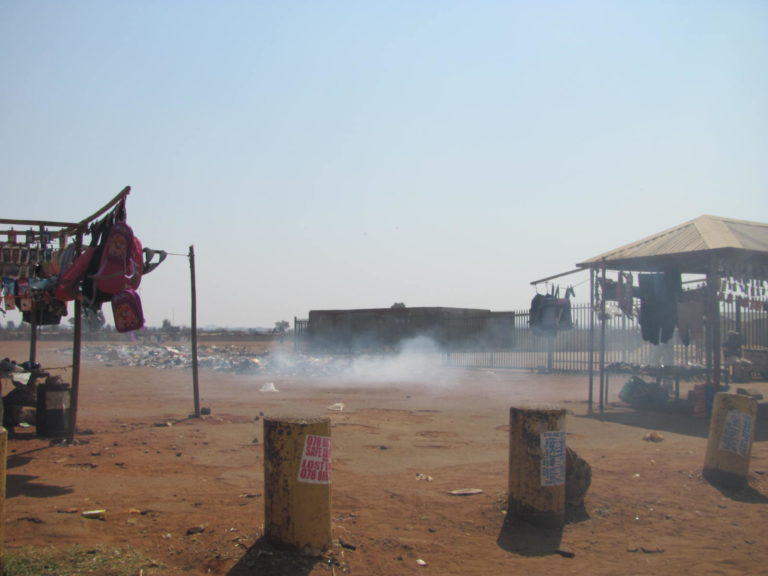 Another part of the hawking area in Bekkersdal