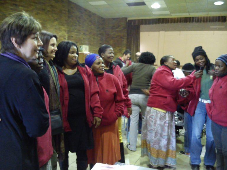 Bekkersdal Fieldworkers with some Teammembers-very excited about their NWU-jackets Jul2013