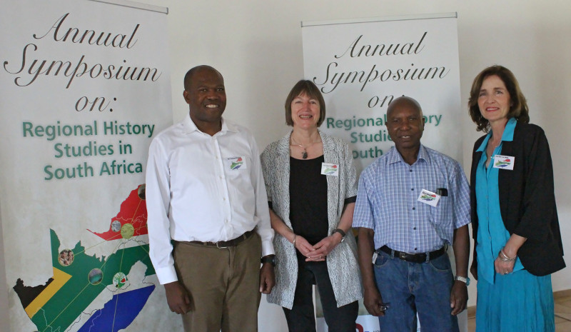 Prof Elize van Eeden - with keynote Prof Cheryl Walker and Prof Bernard Mbenga and Mr Vusi Khumalo