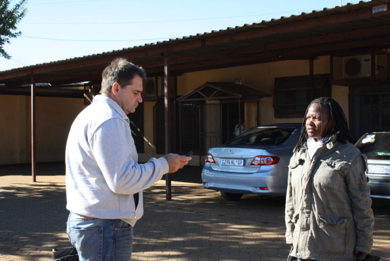 Some Project team members in Bekkersdal during Baseline Questionnaire exposure