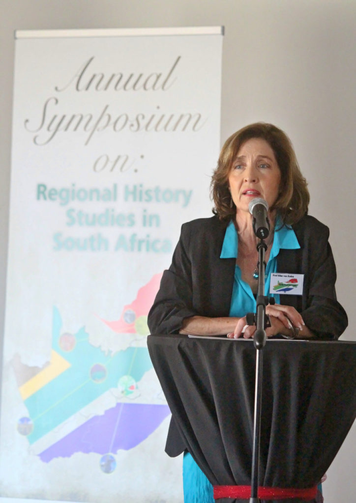 Elize van Eeden-welcoming-attendees-at-the-2nd-regional-history-symposium-25-nov-2016